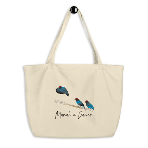 Manakin Dance Eco-Friendly Organic Tote Bag - Manakin Dance