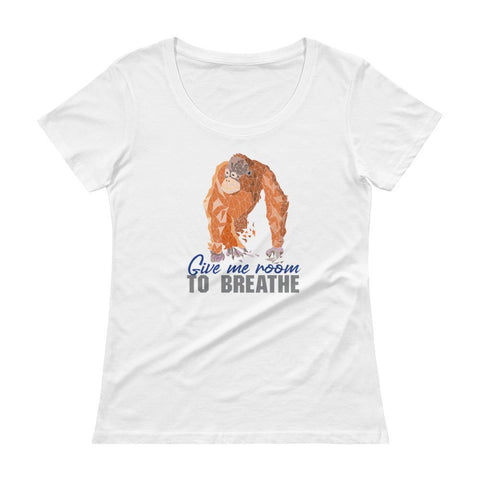 Orangutan Habitat Protection Ladies' Scoopneck T-Shirt - Manakin Dance