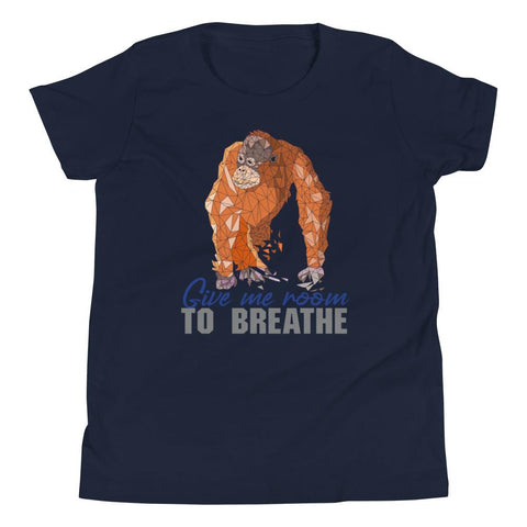 Orangutan Habitat Protection Youth Short Sleeve T-Shirt - Manakin Dance