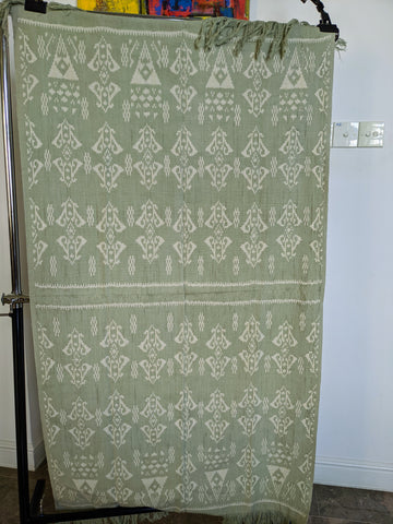 Natural Dye Ikat from Rote Ndao, soft Green