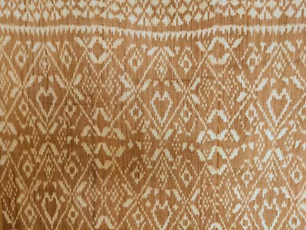 Ikat from Rote Ndao, soft Coral, burnt Pink