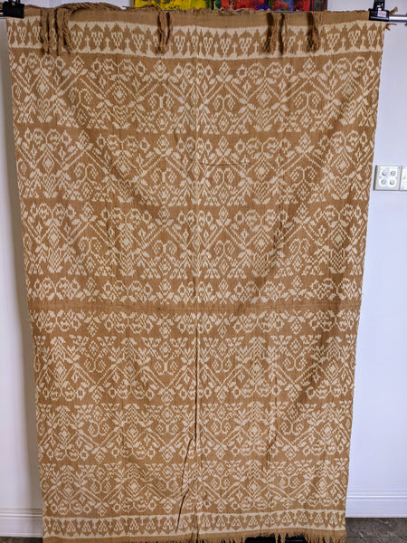 Ikat from Rote Ndao, Brown / Coral natural dye