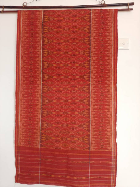 "Insane weft ikat ""Kamben Cepuk"" from Nusa Penida, Museum Quality, famous weaver.  Ceremonial/Sacral cloth"