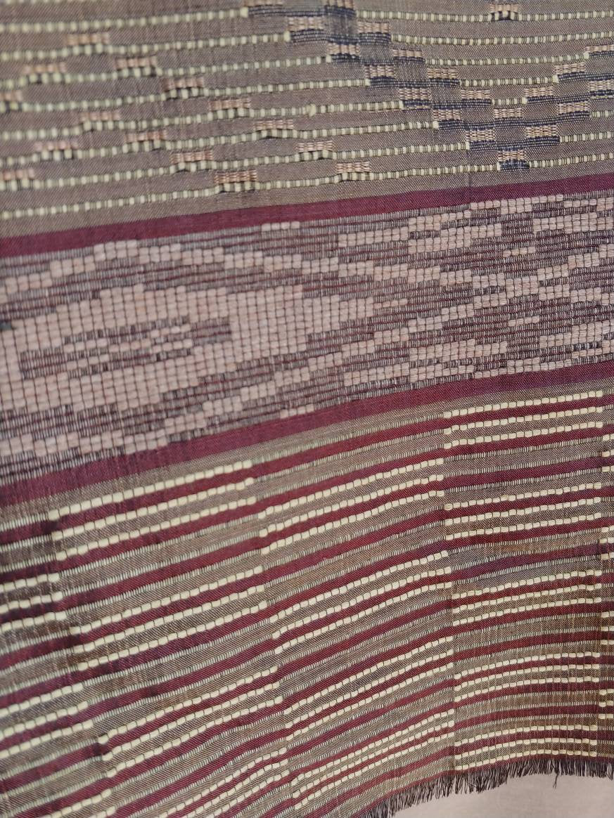 Indonesian Silk Elegant Weaving from Garut, Java