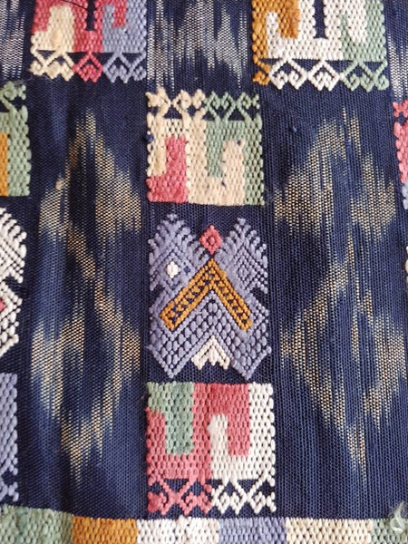 Insane Lao Sindh Traditional Brocade/Ikat combination textile