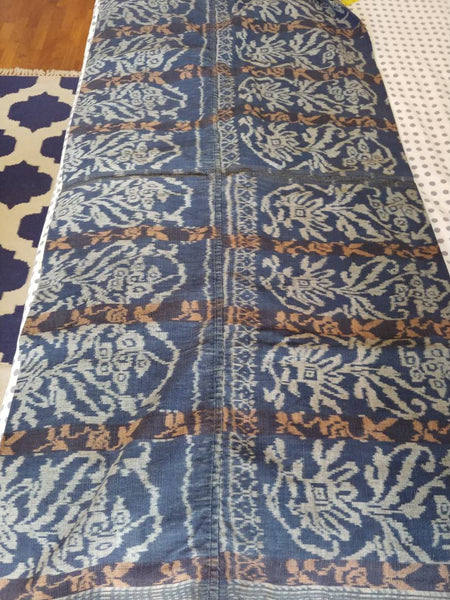Beautiful Vintage Indigo Ikat Sarong from Eastern Flores