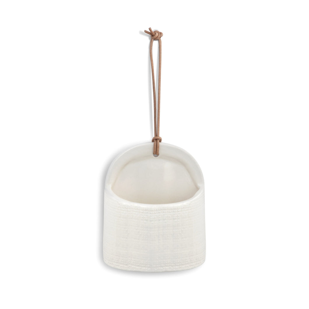 Mini Magnet Planter Crock Wide Linen