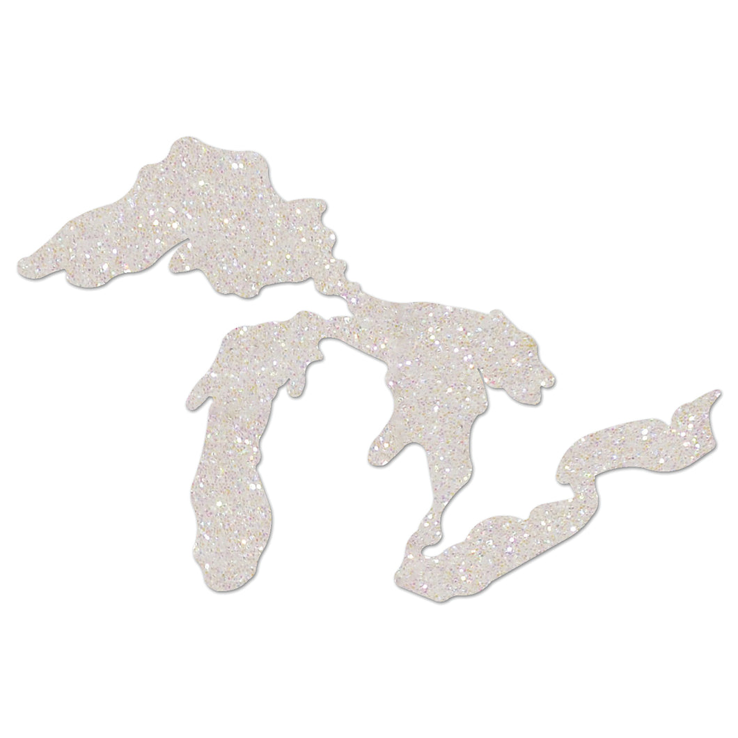 Glittered Great Lakes Ornament