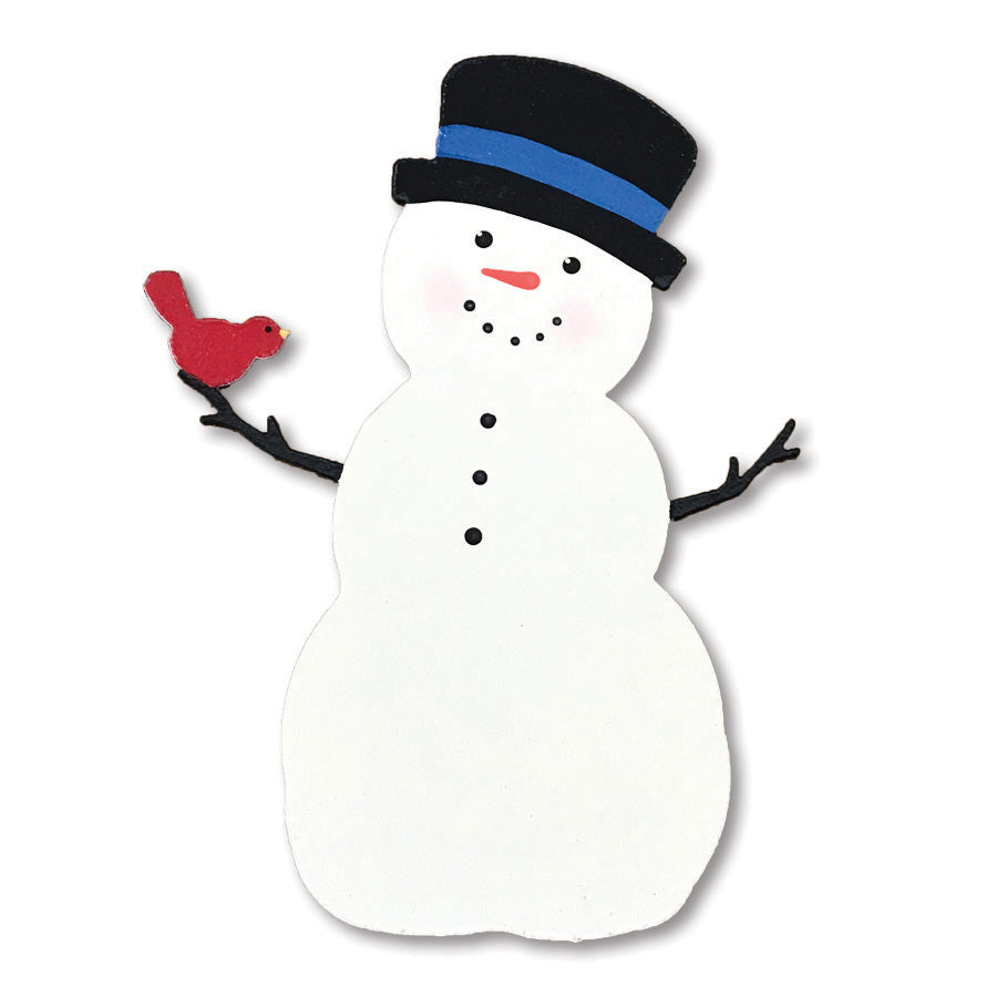 Snowman with Top Hat Magnet