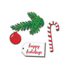 "Load image into Gallery viewer, ""Happy Holidays"" Magnets 