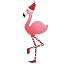 Load image into Gallery viewer, Holiday Flamingo Magnet