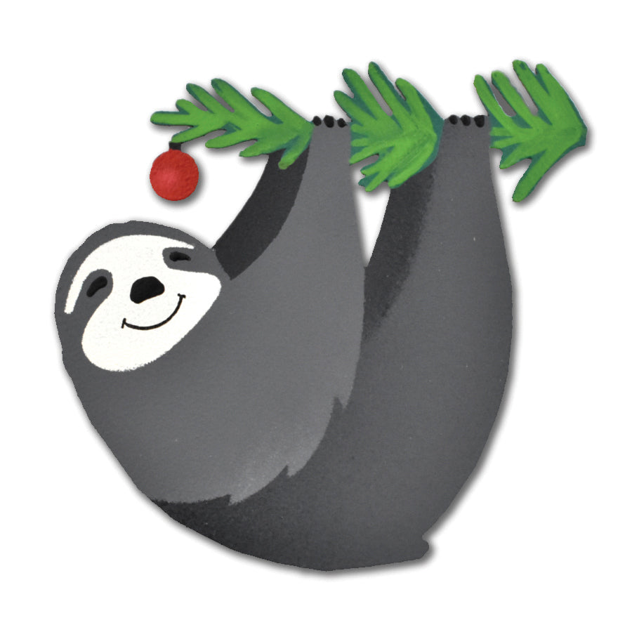 Holiday Sloth Magnet