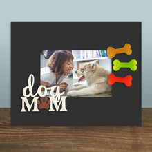 "Load image into Gallery viewer, ""Dog Mom"" w/ Paw Print Magnet"