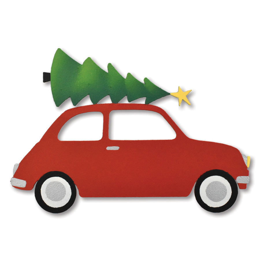 Car w/ Christmas Tree Magnet