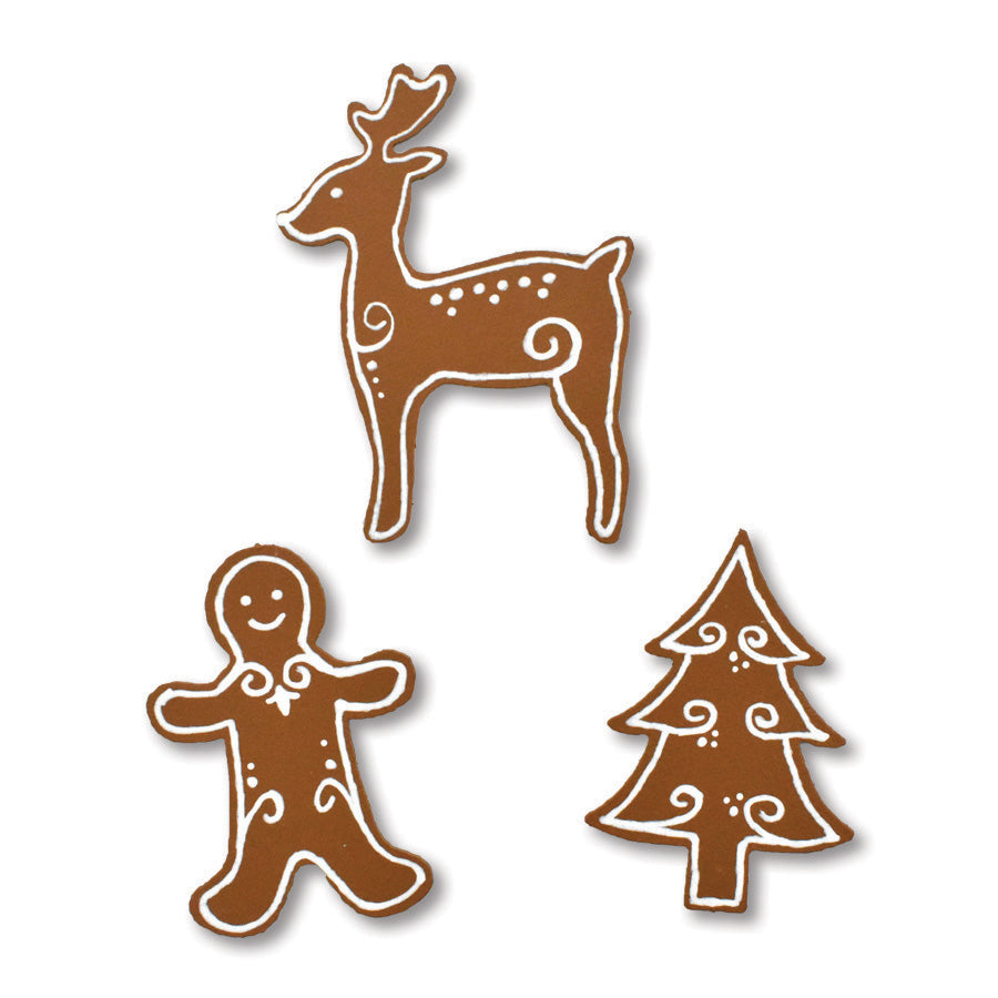 Gingerbread Cookie Magnets | Set of 3