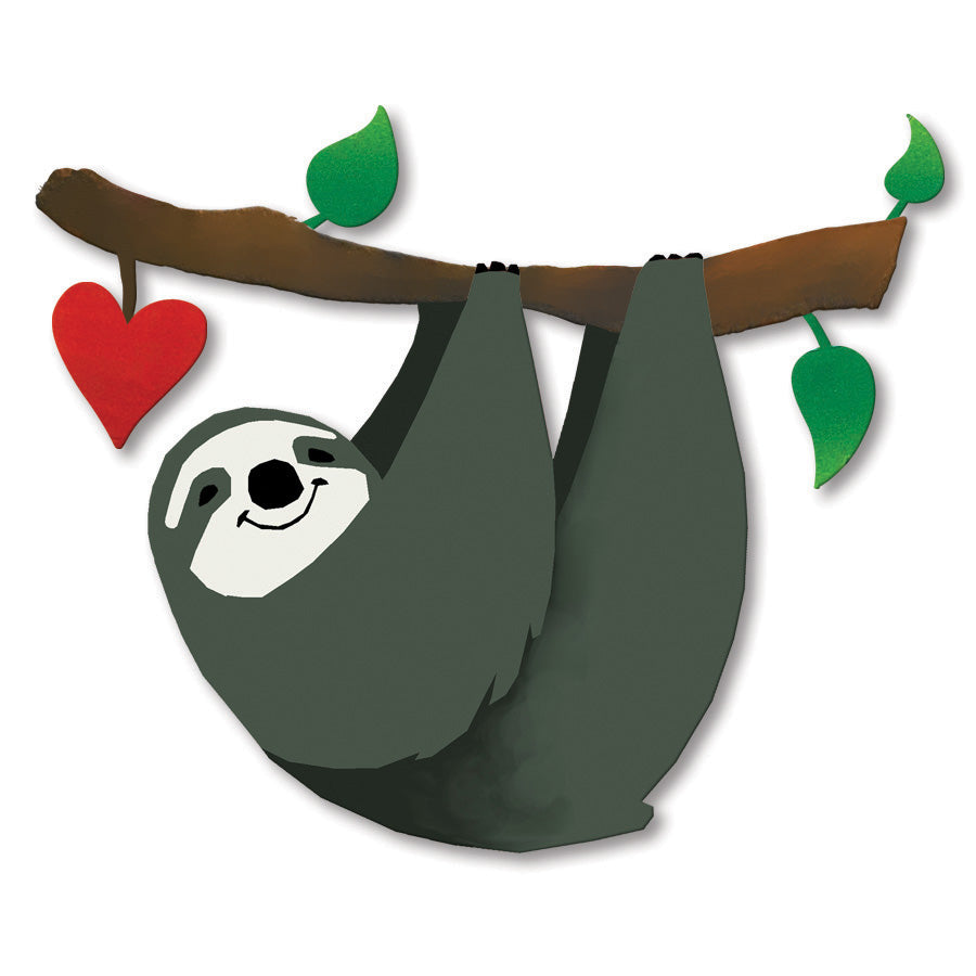 Sloth w/ Heart Magnet