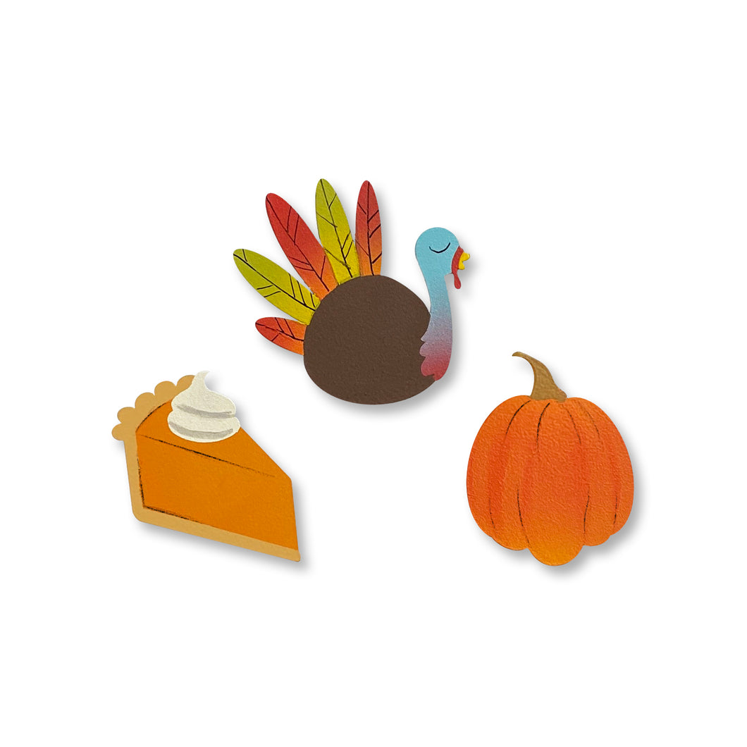 Thanksgiving Magnets S/3