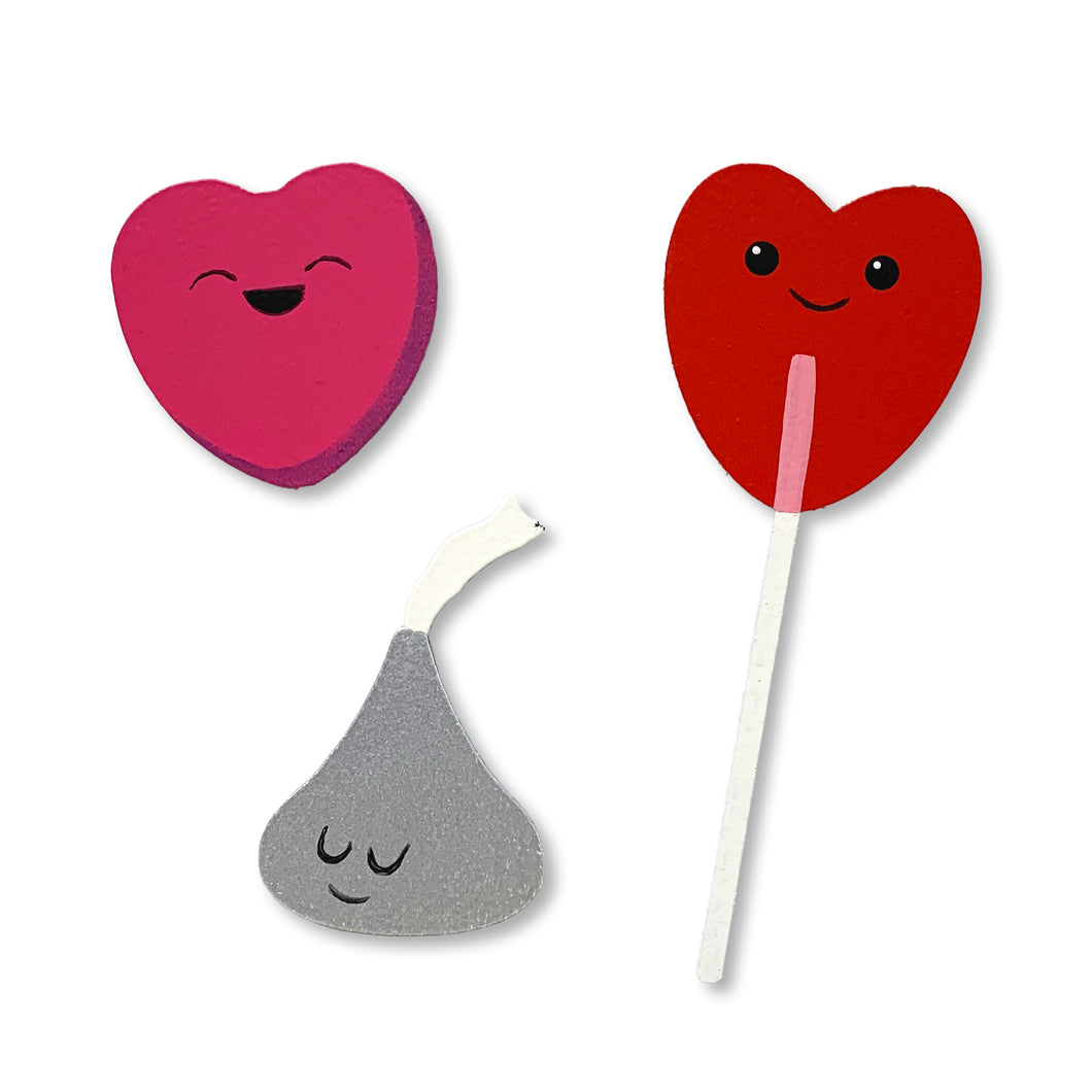 Valentine's Candy Magnets S/3