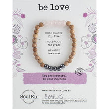 Load image into Gallery viewer, Soulku Be Your Hero Bracelet Be Love Rose Quartz