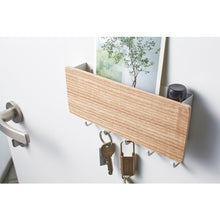 Load image into Gallery viewer, Yamazaki Home Magnetic Key Rack With Tray White