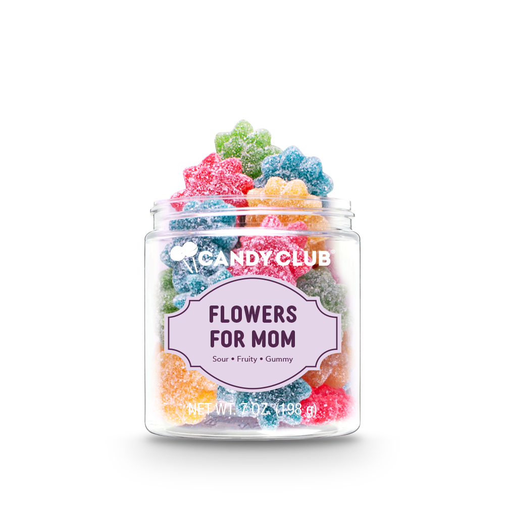 Candy Club Mother's Day Collection Flowers For Mom Sour Fruit Gummies