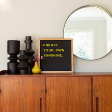 Load image into Gallery viewer, The Type Set Co.® Chalkboard Magnetic Slate w/Pine Frame 15x15 Inky Black