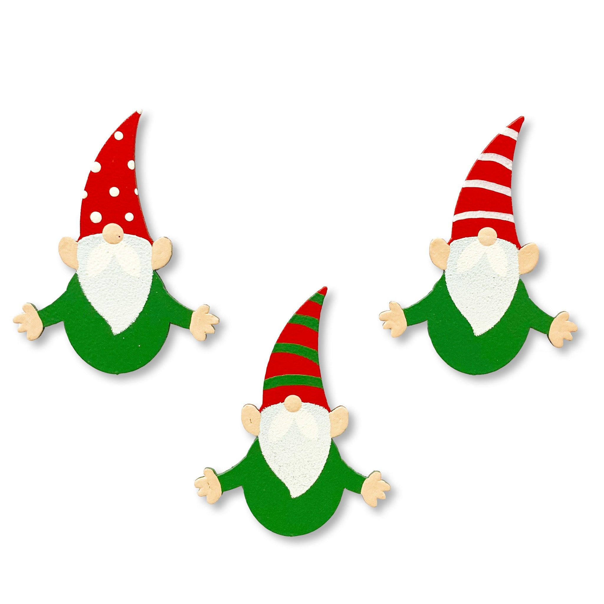 Christmas Gnome Magnets S/3