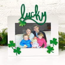 "Load image into Gallery viewer, ""Lucky"" w/ Shamrock Magnet"