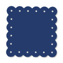 Load image into Gallery viewer, Scalloped Magnetic Note Board Small Royal Blue