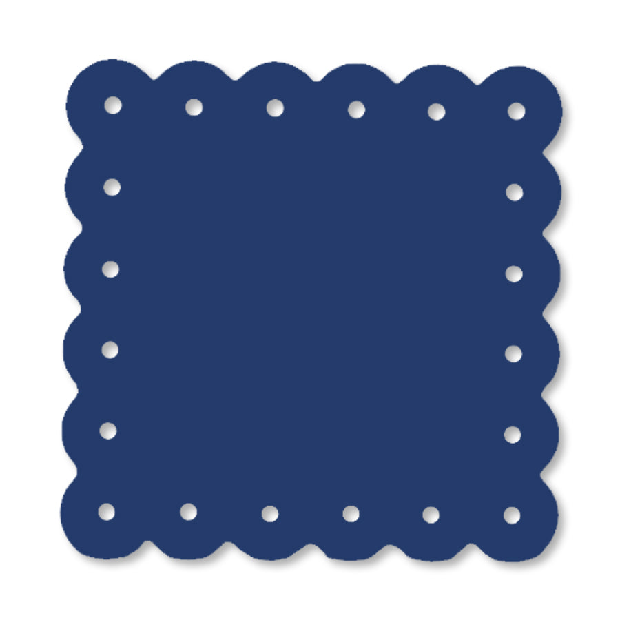 Scalloped Magnetic Note Board Small Royal Blue