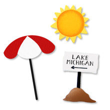 Load image into Gallery viewer, Lake Michigan Beach Sign Magnets S/3