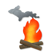 Load image into Gallery viewer, Michigan Campfire Magnet