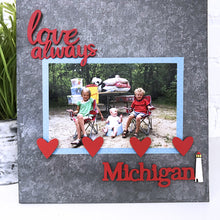 "Load image into Gallery viewer, ""Michigan"" w/ Lighthouse Magnet"