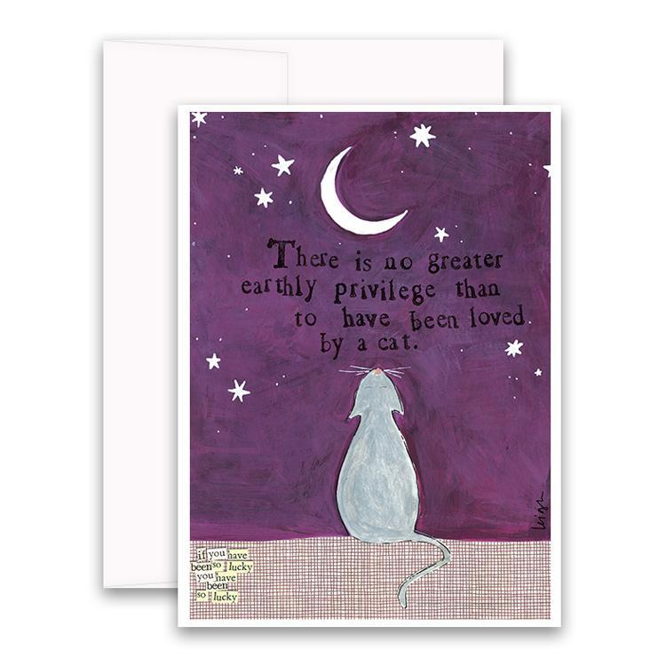 Loved By A Cat Greeting Card