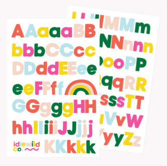 Idlewild Sans Bright Alphabet Sticker Sheet
