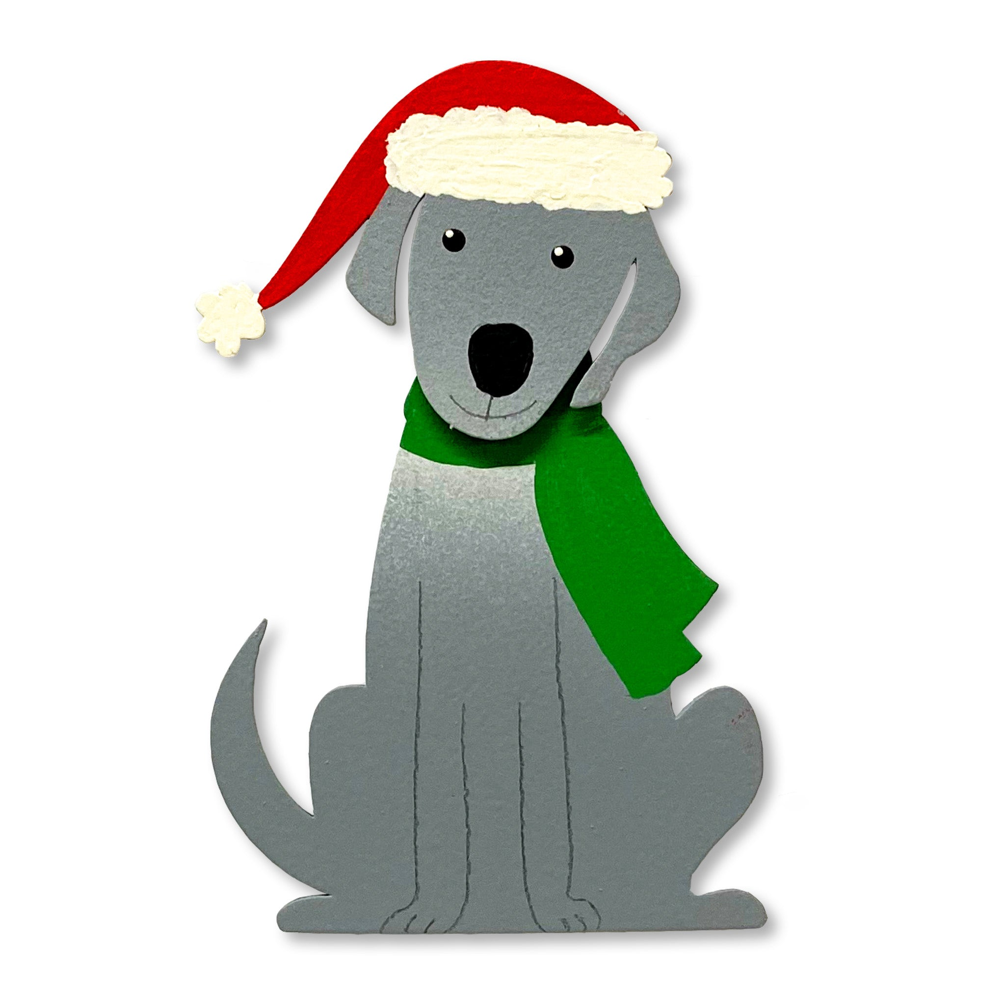 Christmas Dog w/ Movable Head Magnet