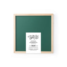 Load image into Gallery viewer, The Type Set Co.® Chalkboard Magnetic Slate w/Pine Frame 15X15 Kale