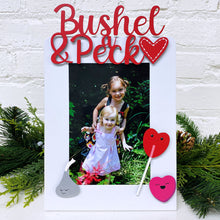 "Load image into Gallery viewer, ""Bushel & a Peck"" Magnet Red"