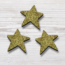Load image into Gallery viewer, Glittered Star Magnets | Set of 3