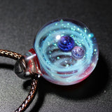 Nebula Galaxy Double Sided Pendant Necklace
