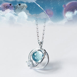SpringLight Aurora Planet Design Crystal Pendant