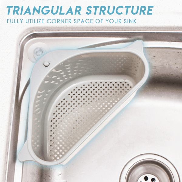 【Kitchen essentials🤩】Triangular Sink Drain Shelf