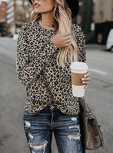 New Leopard Print Long Sleeve T-Shirt