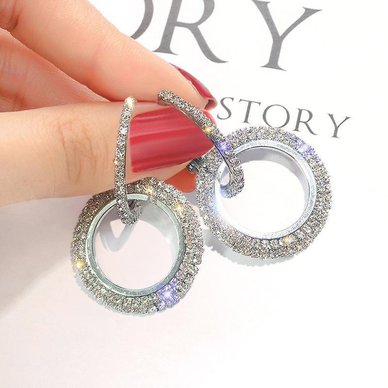 Flash Diamond Hoop Earrings