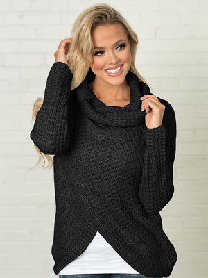 Heaps collar slit sweater