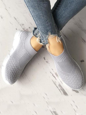 Knitted flat casual sneakers