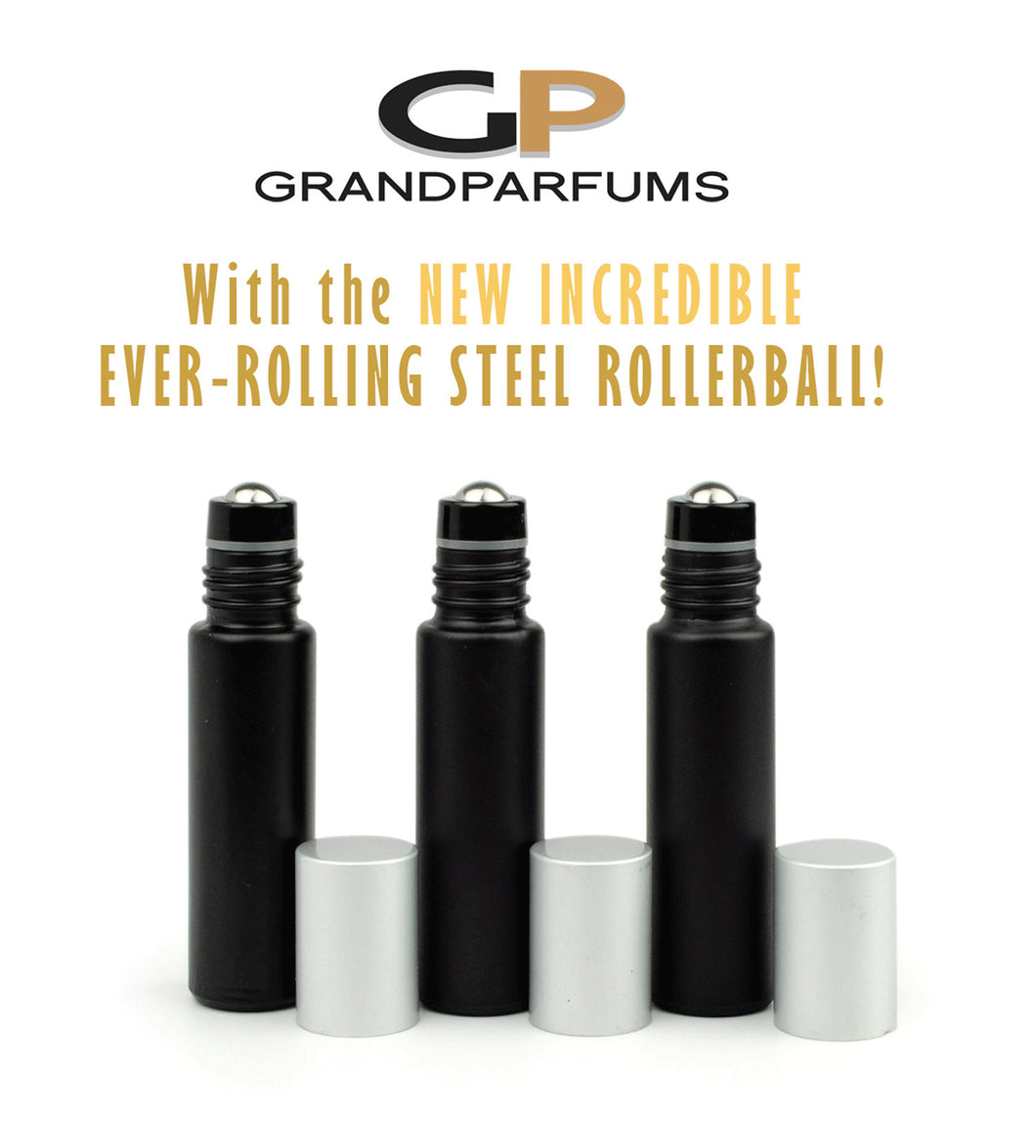 Matte Black Rollers 6Pcs No-Leak Steel Rollers! 10 ml MaTTE BLaCK Essential Oil Glass Bottles w/ Matte Silver or BAMBOO Caps, Essential Oil