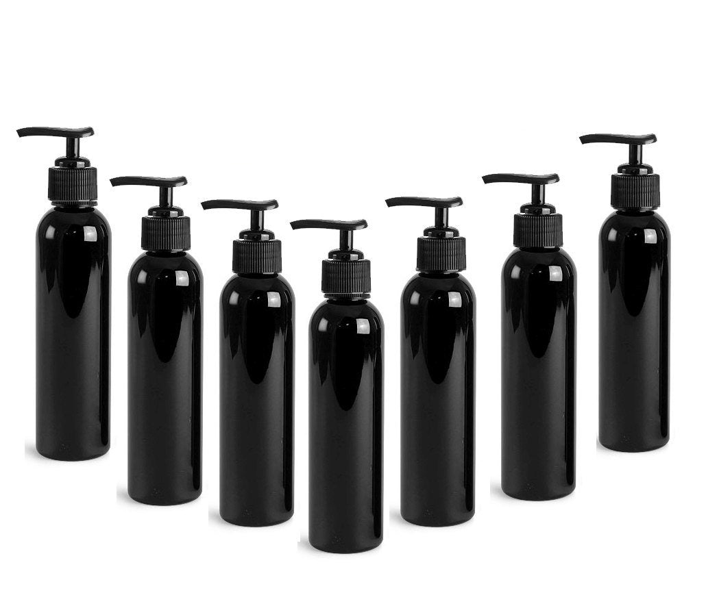 6 Black 4 Oz Lotion Pump Dispenser BOTTLES 120mL BPA Free PET Black Pump Cap Lotion, Shampoo, Body Cream, Soap Aromatherapy, Essential Oil