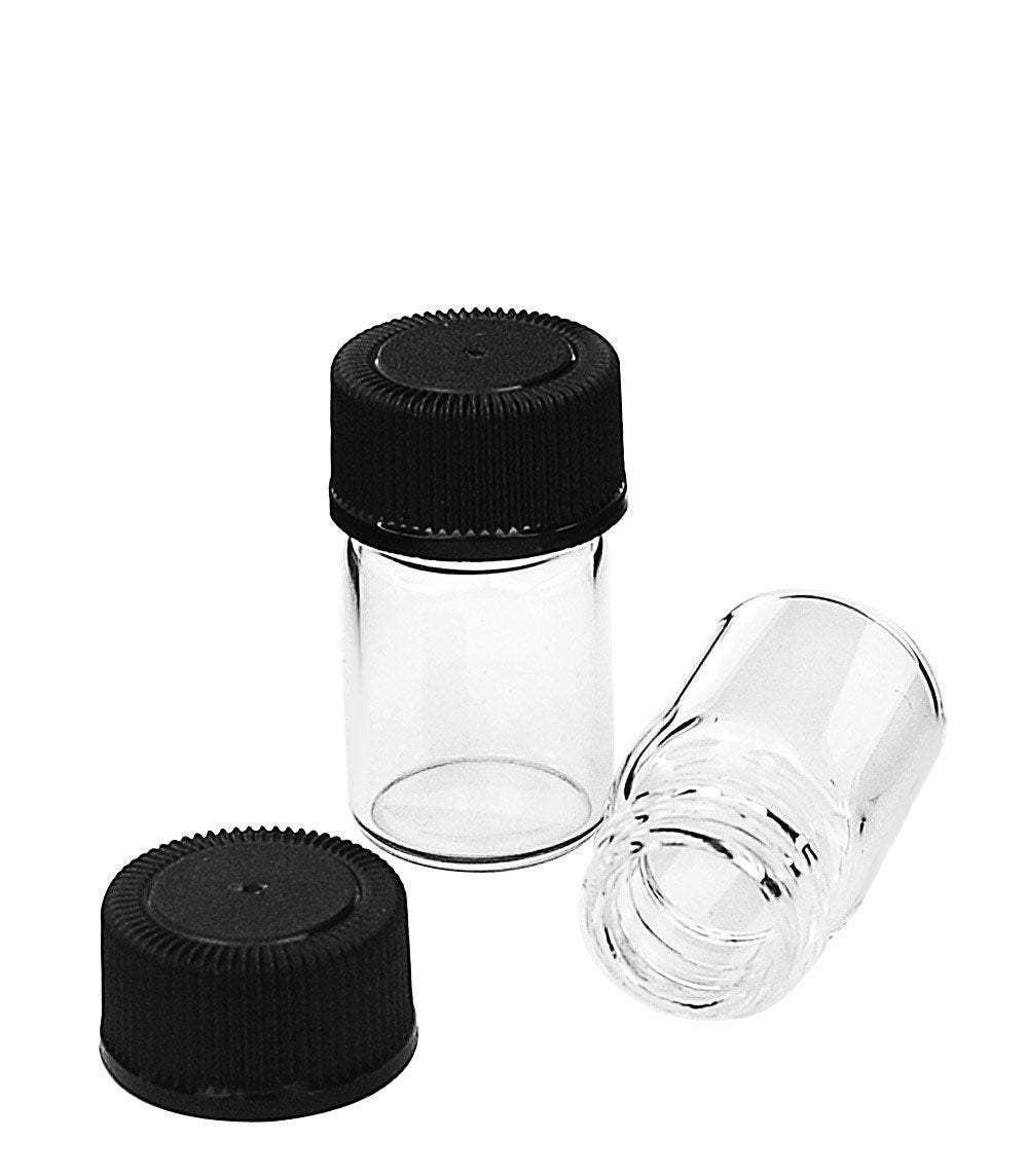 144 Clear Glass 2ml Essential Oil Vials Bottles 5/8 DRAM  2 ml w/ Black Caps Essential Oil, Carrier Oil Cosmetic Sampler Bulk Wholesale