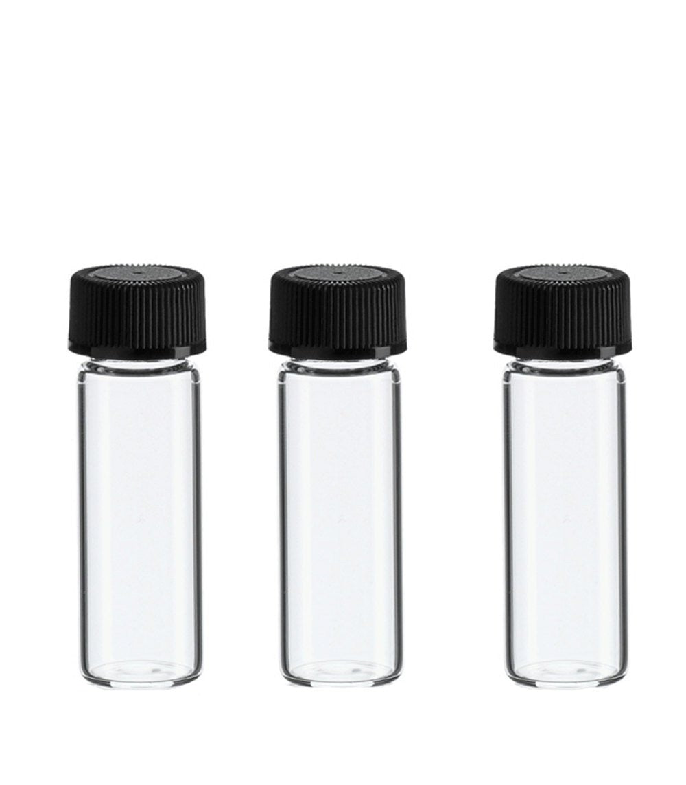 144 oN SaLe BULK Clear Glass DRAM Vials Perfume Sample Tester 3.7ml Empty Bottles w/ Caps WHOLESALE 1/8 Ounce Storage Essential Oil .125 Oz
